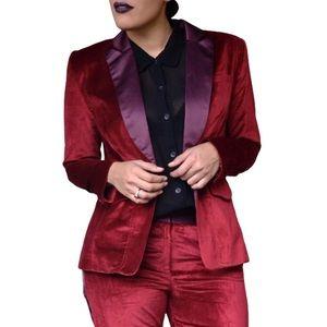 Altuzarra Red Velvet Blazer Jacket Sz XS NWT